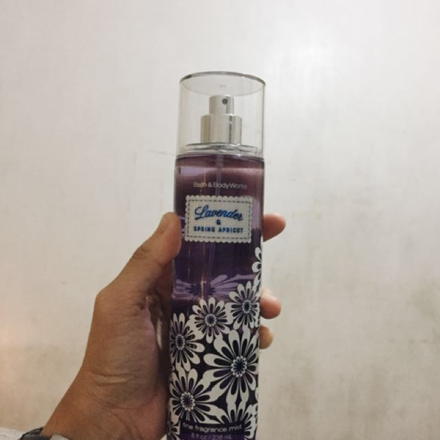 Authentic Bath and Body Works Lavender and Spring Apricot Fragrance Mist