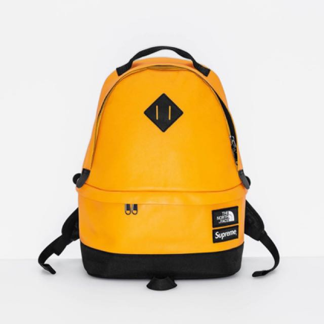 40ae90bb32d9 Authentic Supreme x North Face Leather Day Pack Backpack Yellow ...