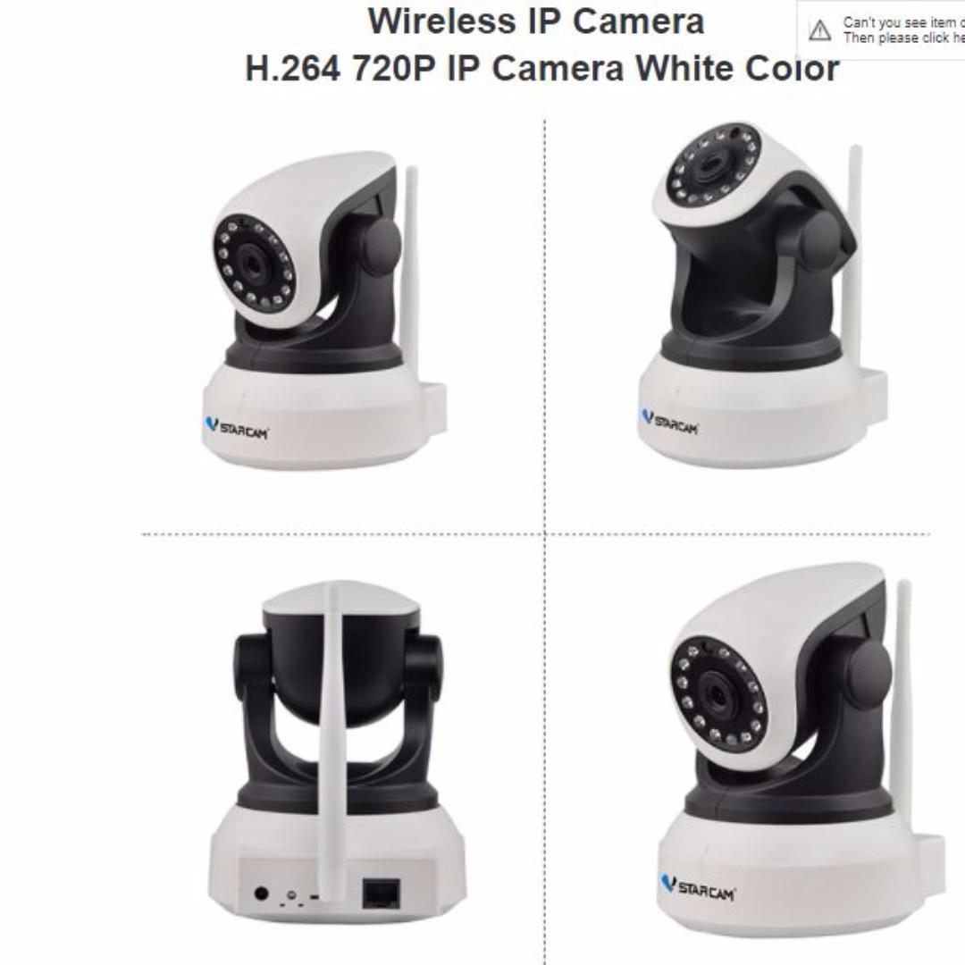 Authentic Vstarcam C7824 Pluss IP Camera CCTV 720P HD Wireless Cam Monitor  Baby/Child/Mai