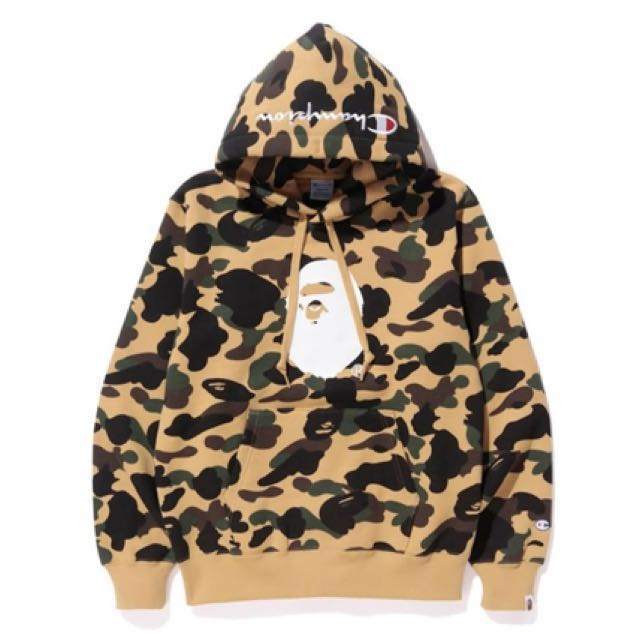 e12a8f621c26 Bape x Champion hoodie M size (in stock)