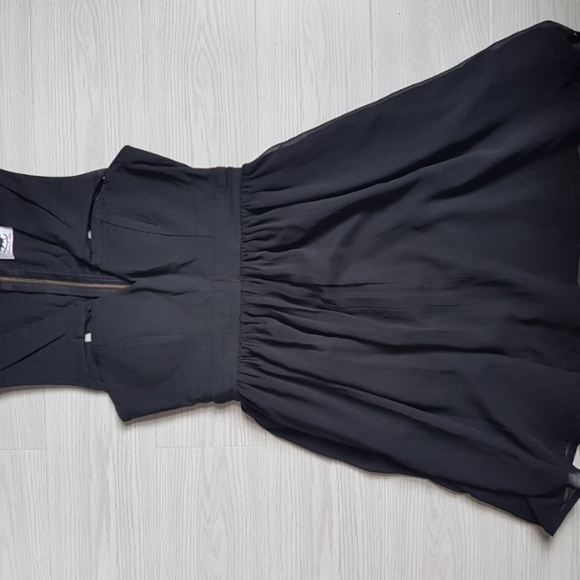 Black dress flowy with cutouts