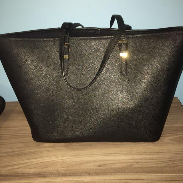 Black Faux Leather (Indigo)