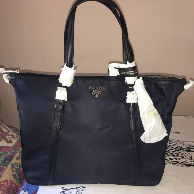 37ef25dbb622 ... coupon code bn authentic prada tessuto soft calf shopping tote luxury  bags wallets on carousell 7ba29