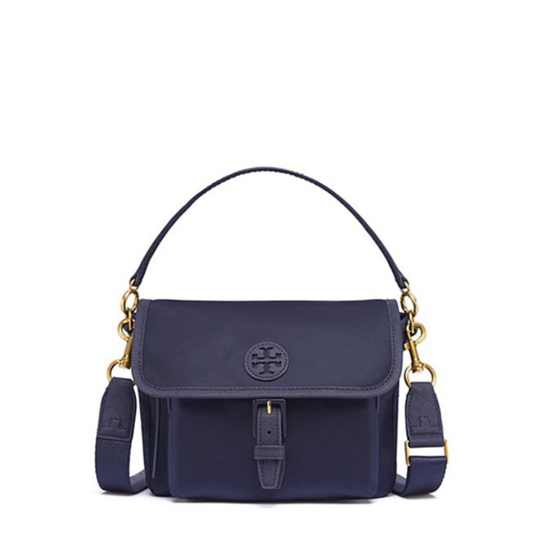 4ef696af2d4 BN Authentic Tory Burch Scout Nylon Crossbody Navy