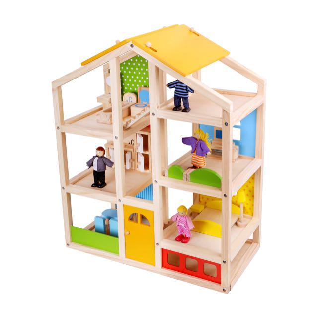 Brand New Wooden Dollhouse House Furniture Dolls Toys Games