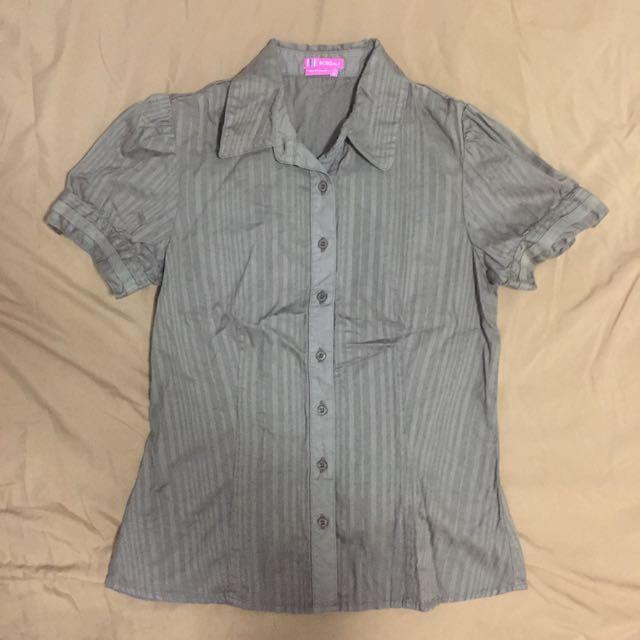 Brown Striped Top, Office Wear