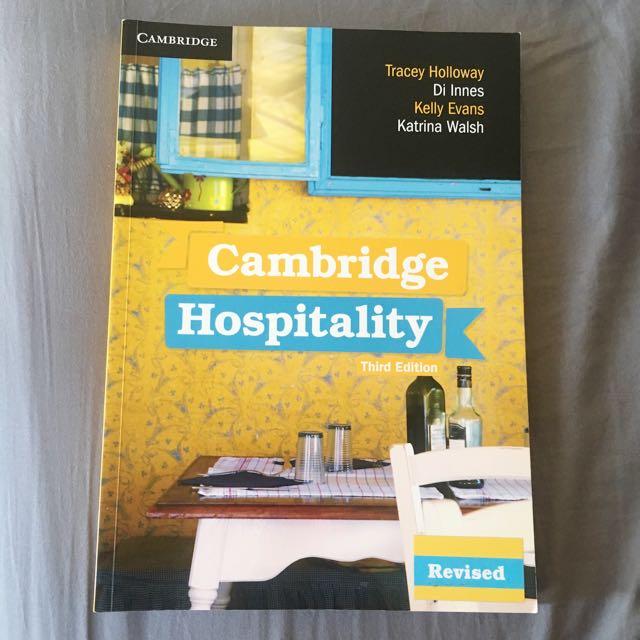 Cambridge Hospitality Textbook third edition