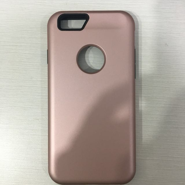 Casing rosegold 2 layer Iphone 6/6s
