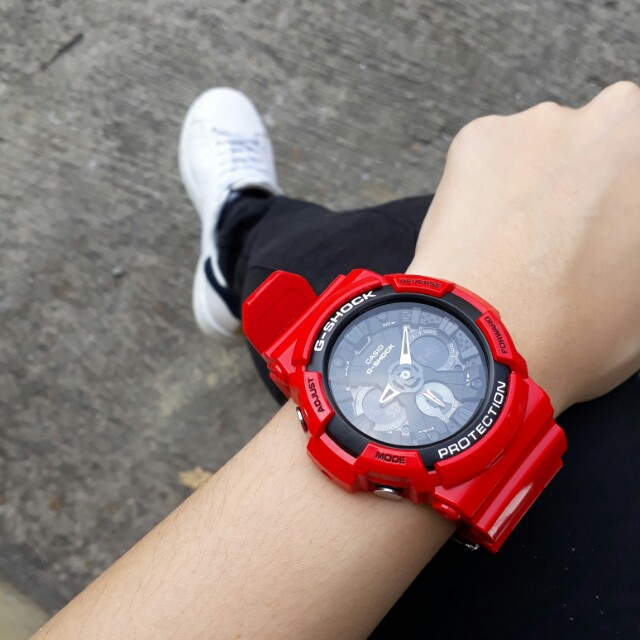 2694d77cfe07 Casio GSHOCK Red Limited Edition 2017 GA-201RD-4A Resin Sport Watch ...
