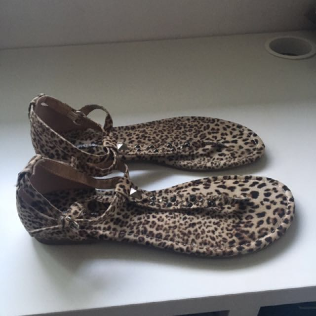 Cheetah Print Thong Sandals