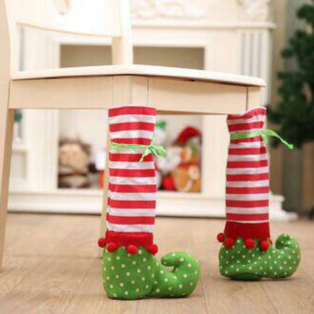 Christmas Elf Chair / Table Leg Covers