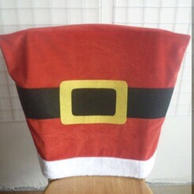 Christmas Santa Belt Chair Covers