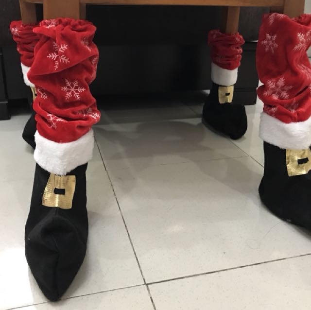 Christmas Santa Chair/Table Leg Covers