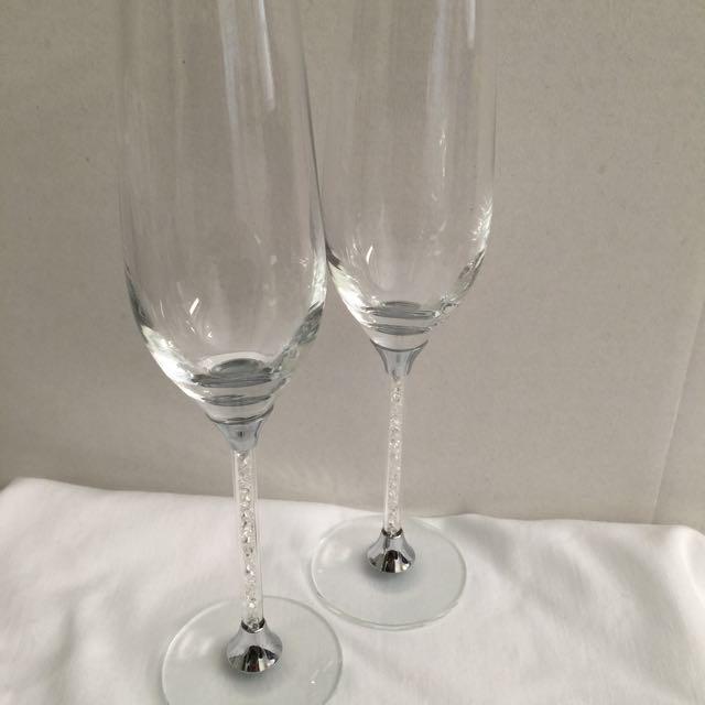 Crystal Stem Toasting Glasses