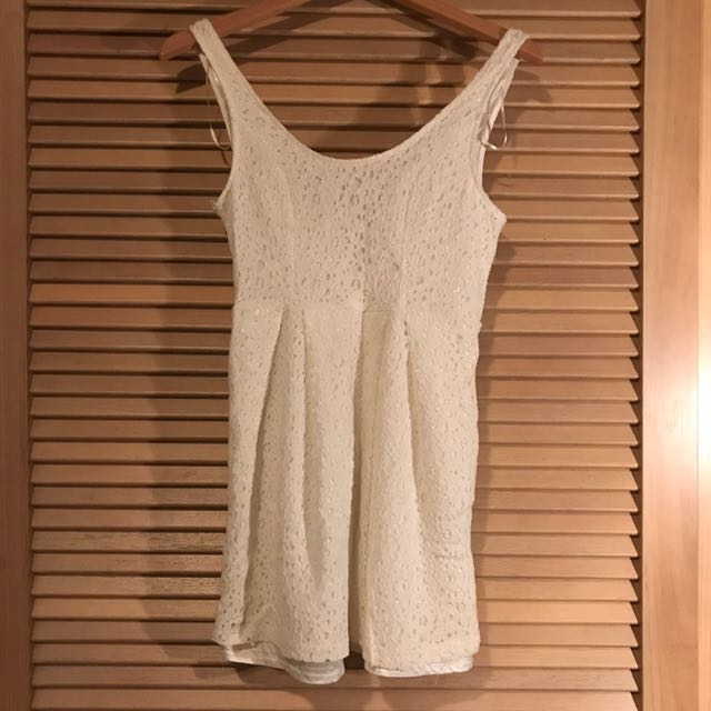 Cute white crochet dress