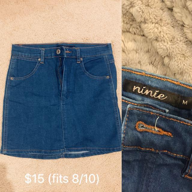 Denim Skirt Size 10