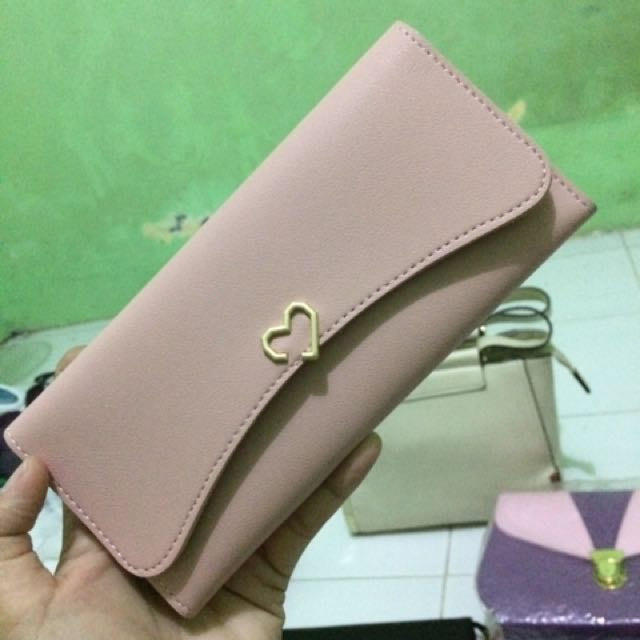 dompet import pink peach
