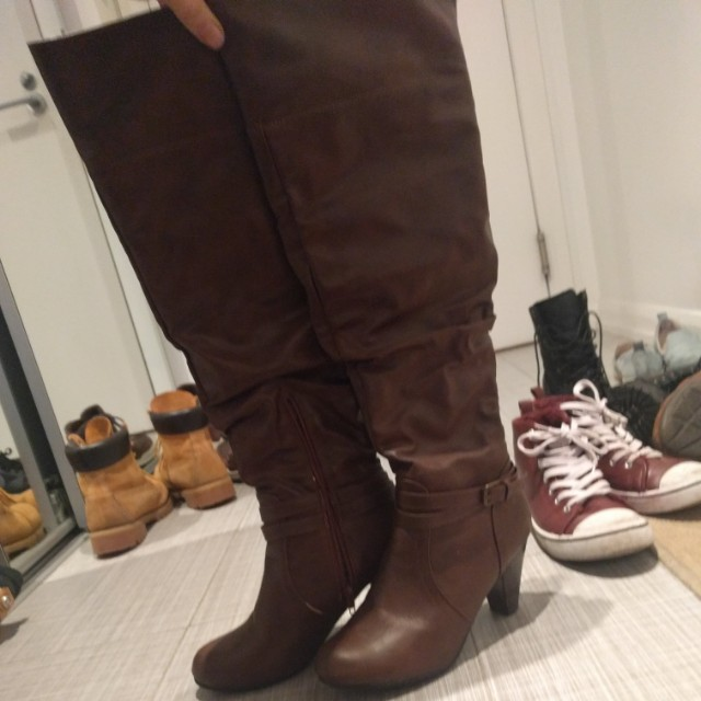 Fall knee length boots