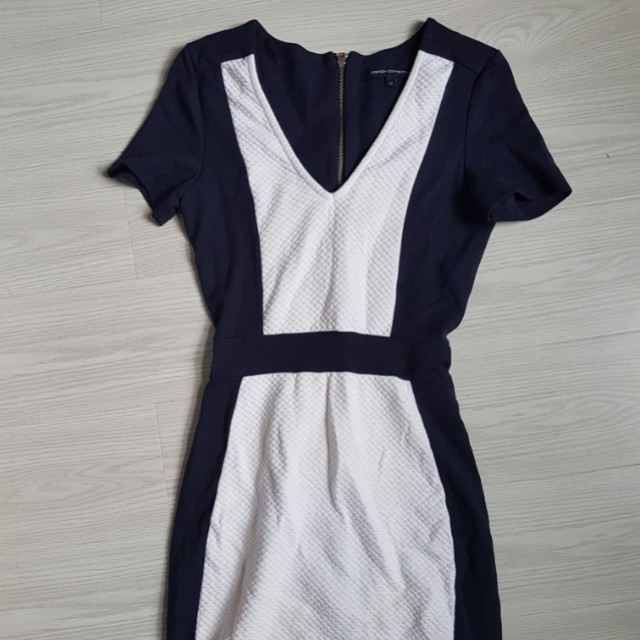 French connection blue white dress