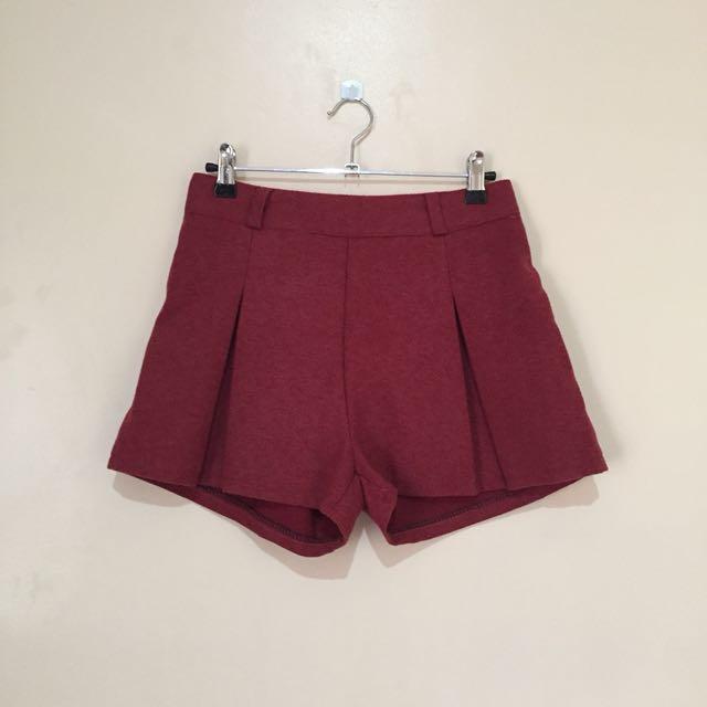 Garterized highwaist shorts