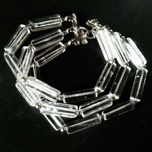 Gelang kristal clear premium