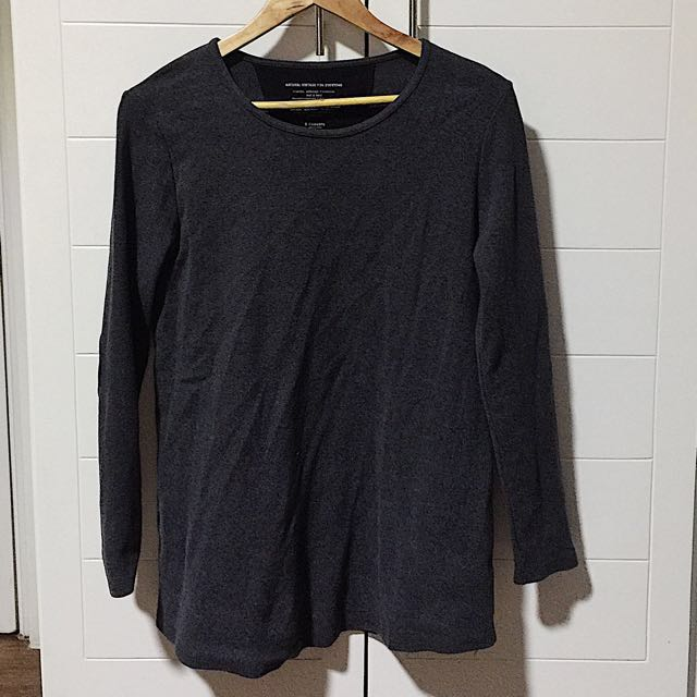 Gray Jumper with Elbow Patches