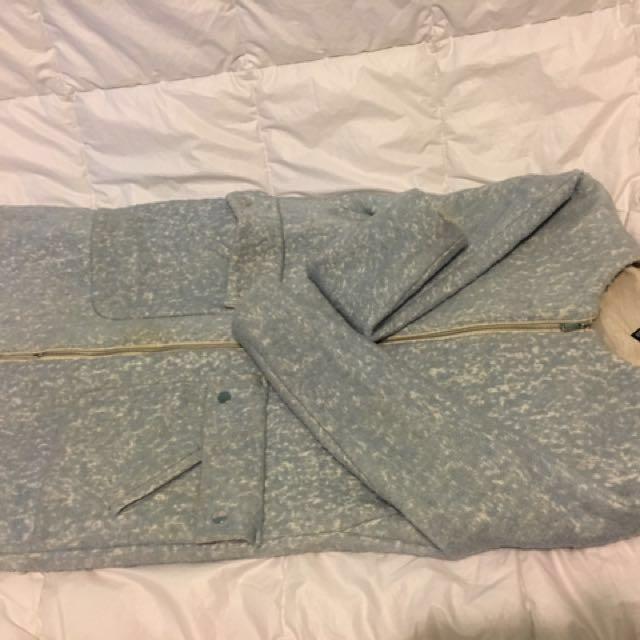 H&M Baby Powder Blue Coat