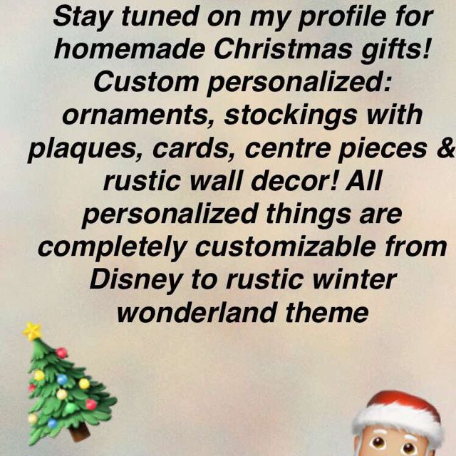Homemade custom personalized Christmas gifts!