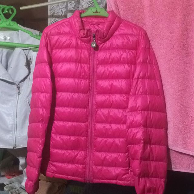 Hot pink bubble jacket