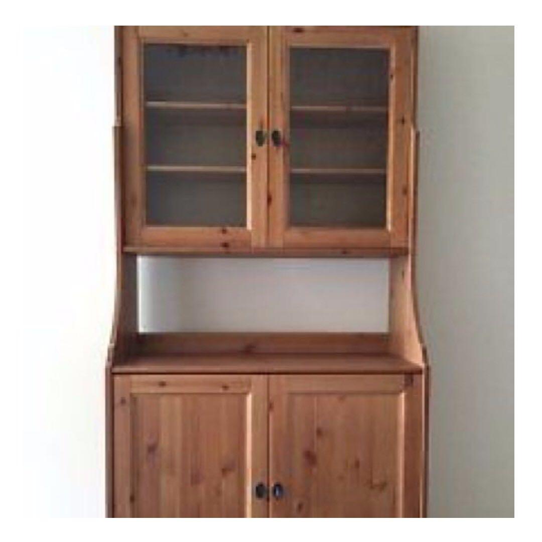 ikea leksvik display cabinet furniture shelves drawers on carousell. Black Bedroom Furniture Sets. Home Design Ideas