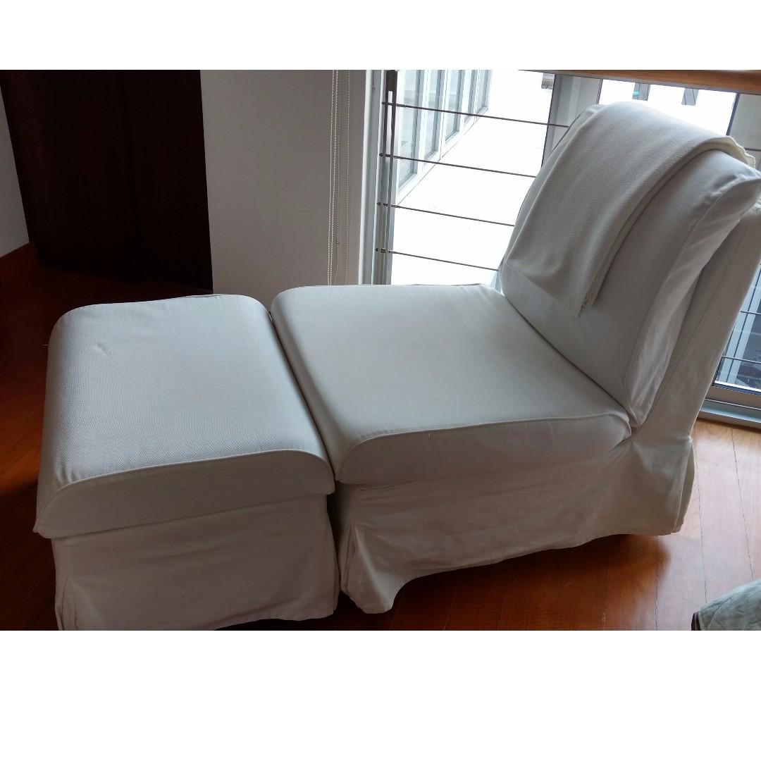 Enjoyable Ikea Sandby Armchair And Footstool Furniture Sofas On Download Free Architecture Designs Parabritishbridgeorg