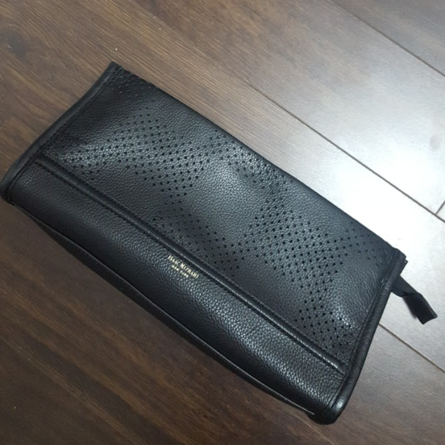 Isaac Mizrahi leather clutch