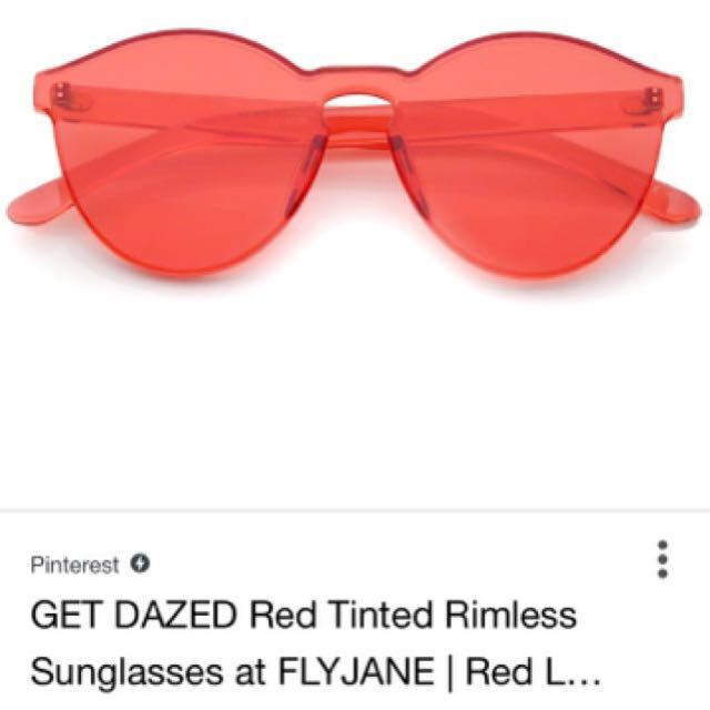 ISO red fashion glasses