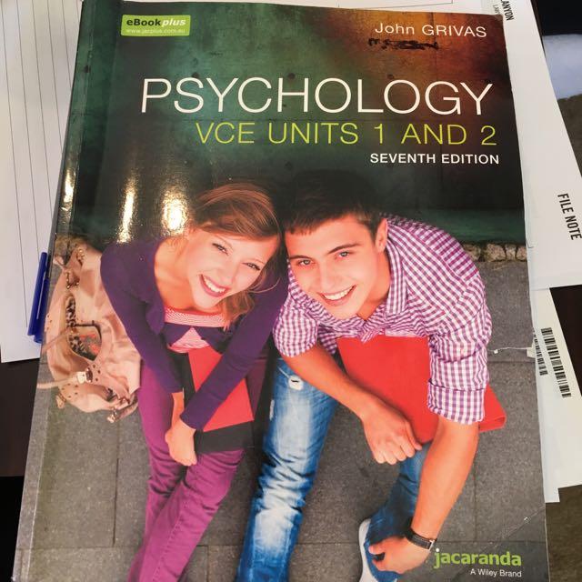 Jacaranda Psychology VCE units 1 and 2 textbook