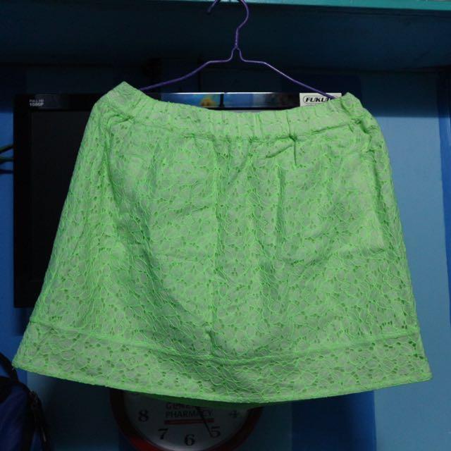 JCrew Neon Skirt