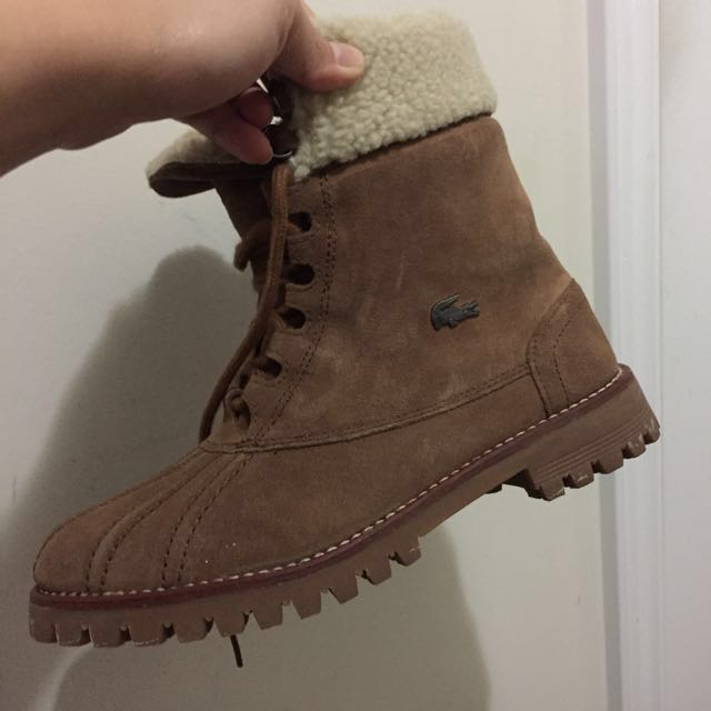Lacoste Nubuck Winter Boots Size 6.5