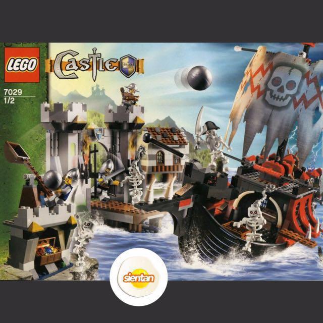 LEGO 7029 Castle Fantasy Era - Skeleton Ship Attack (2007) (USED ...