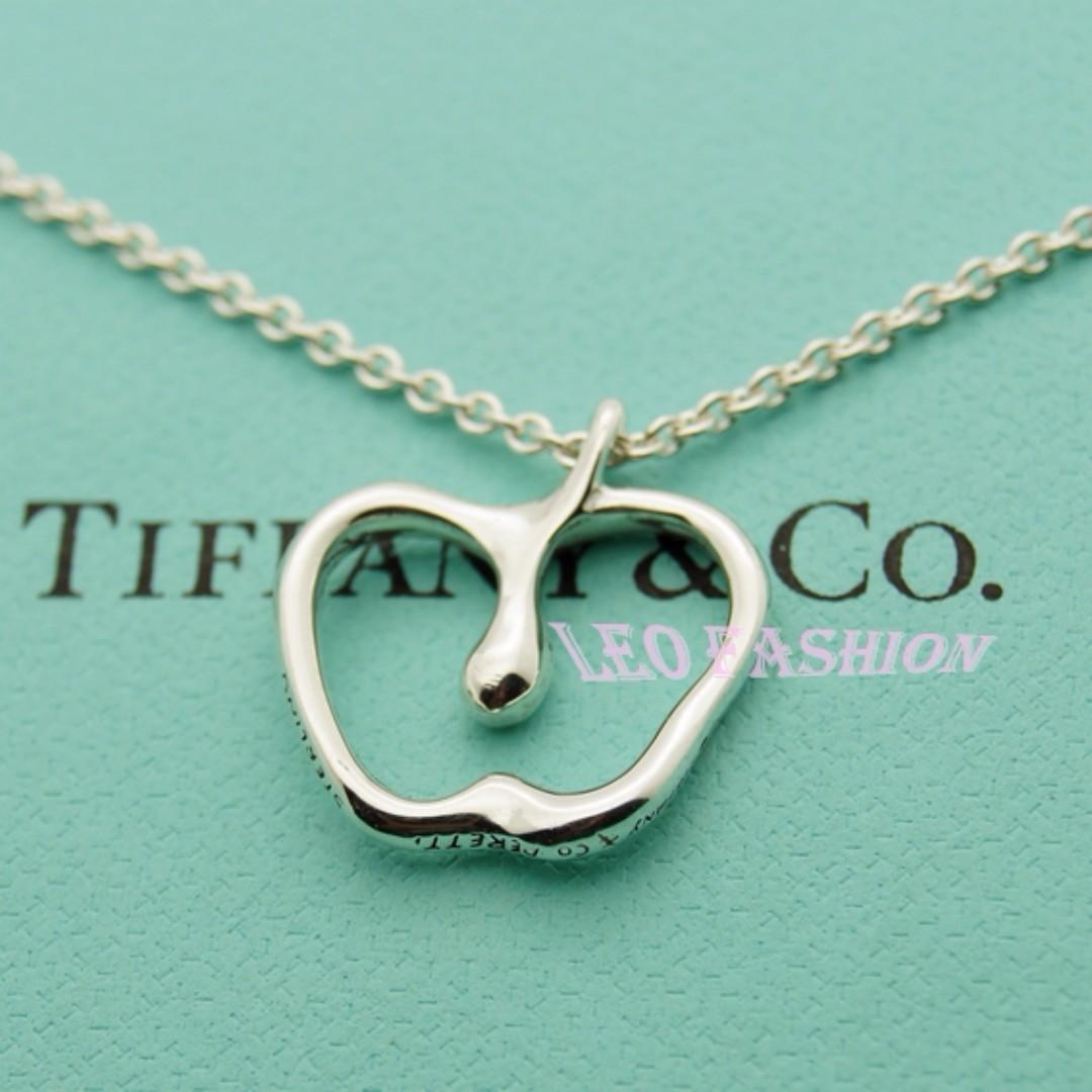 【LEO FASHION】二手正美品 Tiffany & Co. 經典蘋果造型項鍊