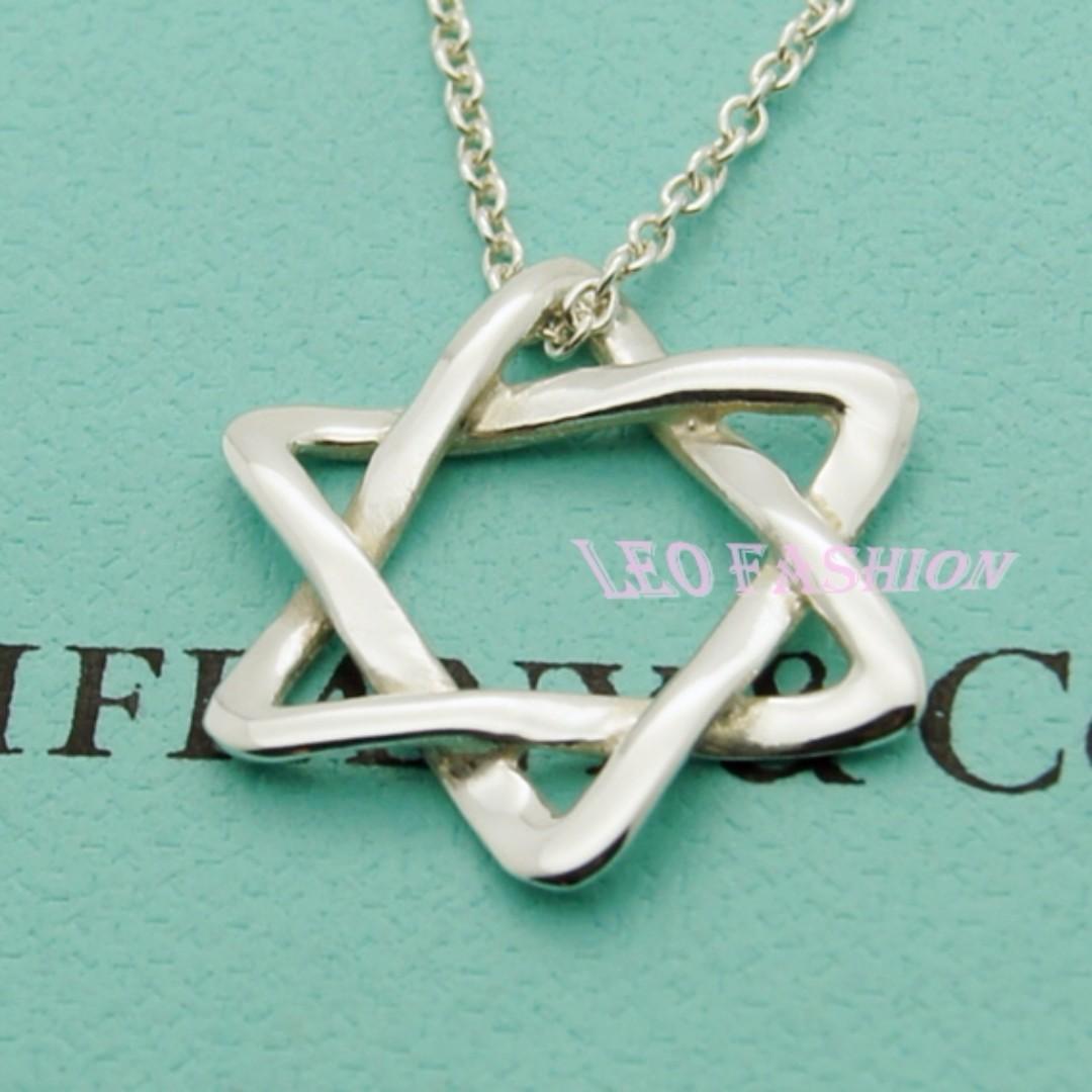【LEO FASHION】二手正美品 Tiffany & Co. 大衛之星項鍊
