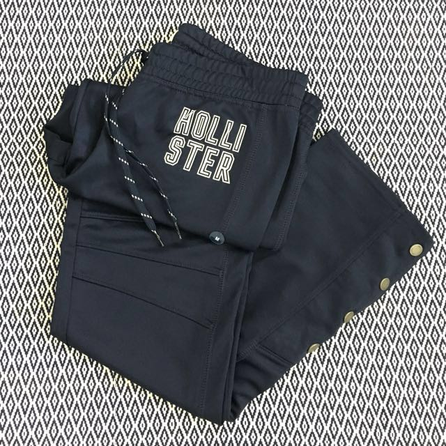 (M) Authentic Hollister Ladies Cali Sport Side-snap Graphic Track Pants