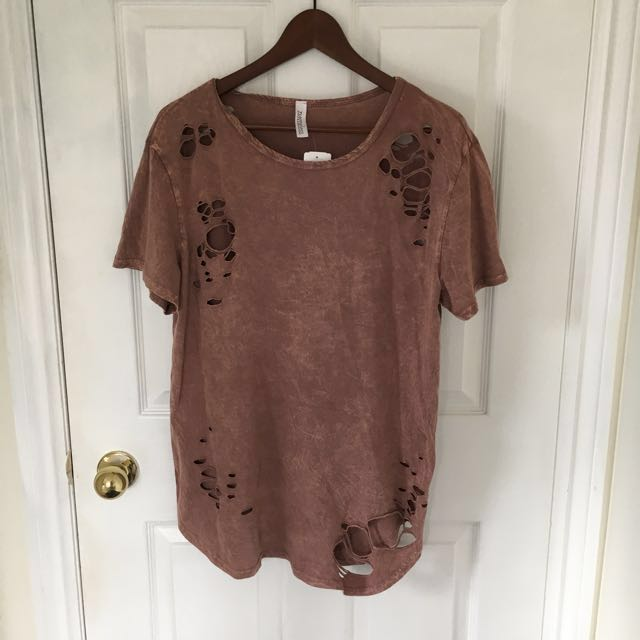 M Boutique Distressed Tshirt