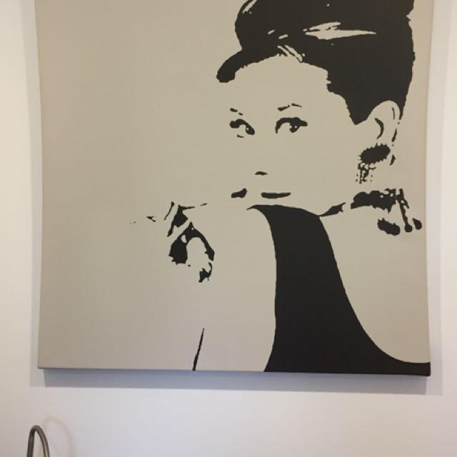 Marilyn Monroe and Audrey Hepburn Canvas Prints
