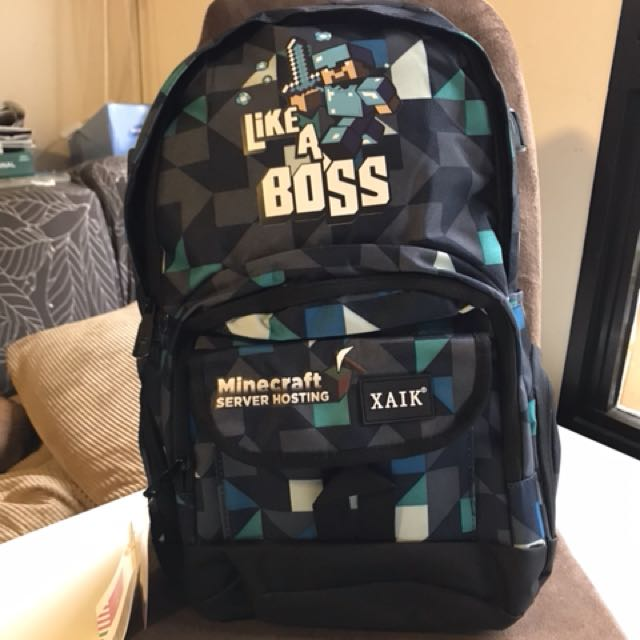 Minecraft Armor Steve like a boss School bag