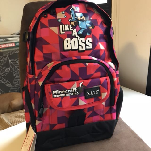 Minecraft Armor Steve school bag