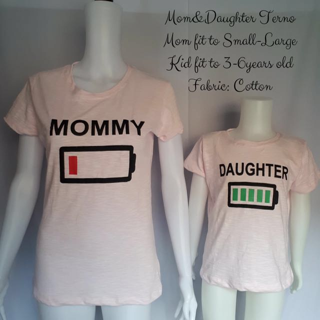 Mom and child terno shirt