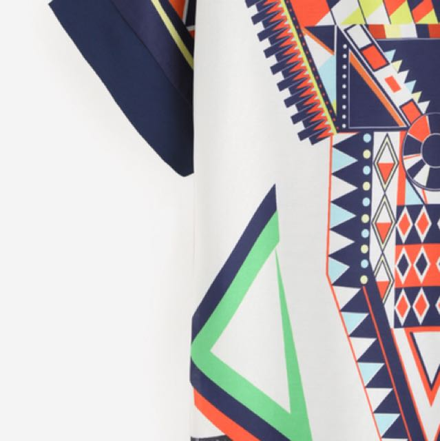Multicolor printed shift Dress