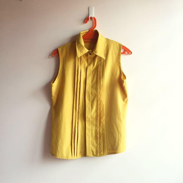 mustard sleeveless top