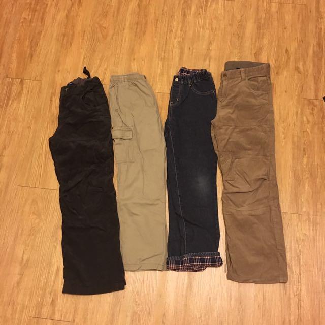 Net褲子,8成新!購入時$499一件!4件一起$500(免運費)!120~130公分的小朋友都可以穿