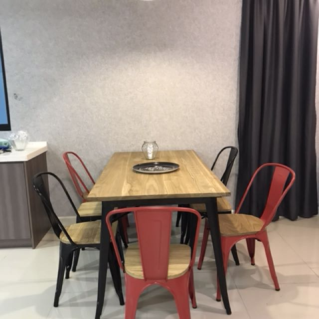 New 7pax Cafe Style Dining Set