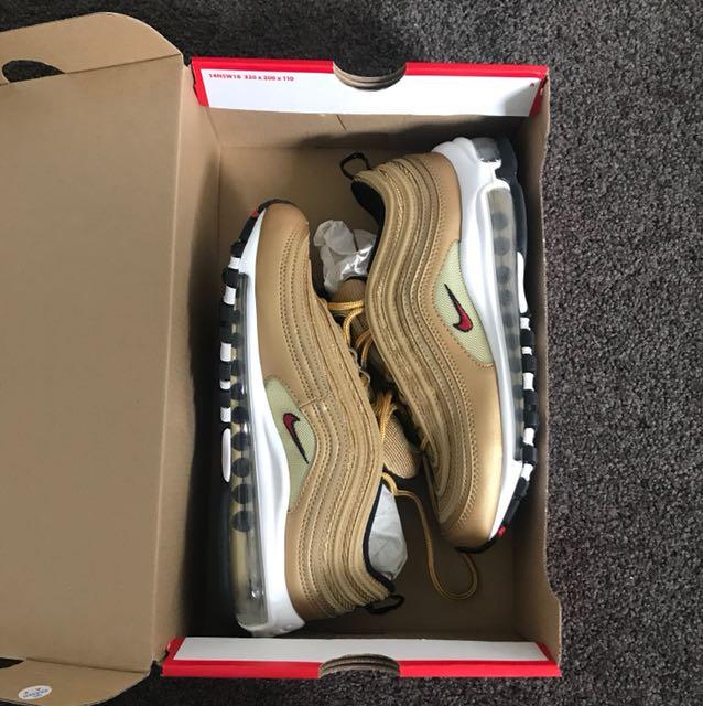 Nike air max 97 ( brand new ) gold Sz 6.5
